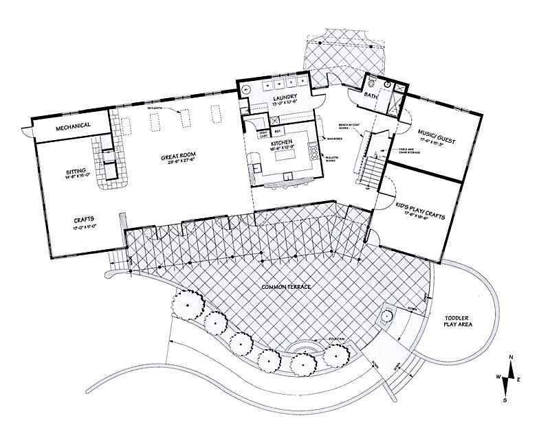Winter planning winter progress stone s throw ecovillage for Common house plans